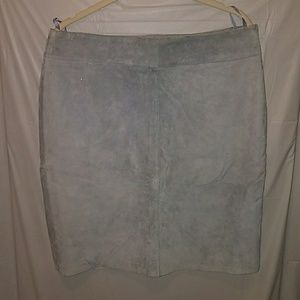 Powder blue leather skirt express circa 2001 11 12